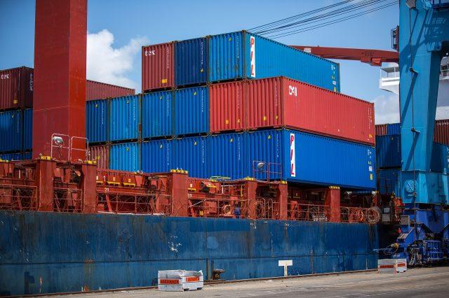 caribbean trade - shipping containter